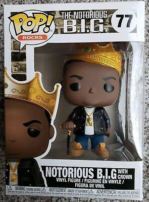 Funko POP! Rocks Notorious BIG Biggie Smalls Vinyl Figure #77 Crown