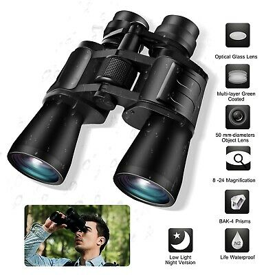 Day/Night Vision 180x100 Zoom Outdoor HD Binoculars Hunting Telescope +Case Caps