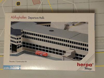 (3) Herpa Wings 1:500 Airport Buildings Departure Halls Without Recess