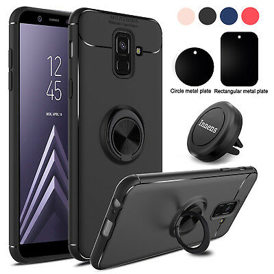 For Samsung Galaxy A6 2018/ SM-A600F Holder Stand Case Cover+Magnetic Vent Mount