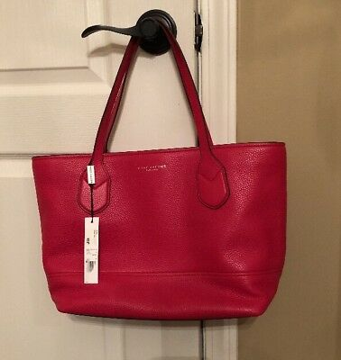 ace2972cbb NWT MARC JACOBS The Grind Colorblock Leather Tote  Grape Multi ...