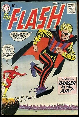 The Flash #113 VG+   1st Appearance Trickster