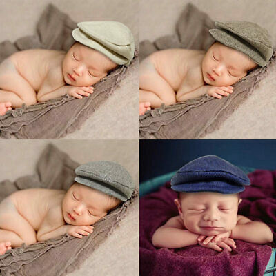 Baby Newborn Peaked Beanie Cap Hat Photo Photography Prop Outfit Set