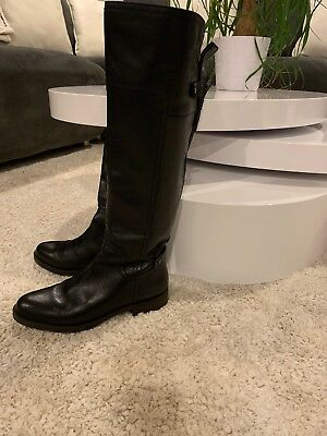 588a18f7e9a9 FRANCO SARTO ROSELLE Studded Black Leather Knee High Boots 7 M  225 ...