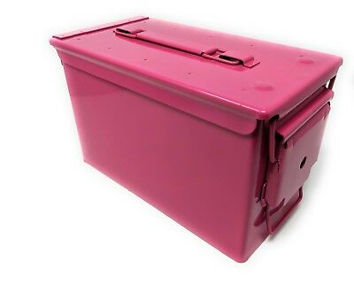 Genuine US Military 50 Cal Ammo Can M2A1 5.56mm Pink