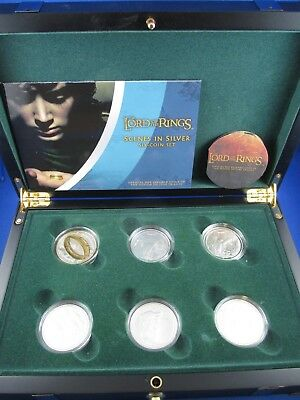 2003 New Zealand Silver Six Coin Set - THE LORD OF RINGS -