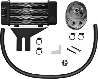 Jagg Lowmount 10-Row Oil Cooler System Chrome #750-2580 Harley Davidson Dyna