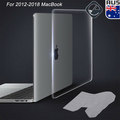 """Clear Hard Case Shell Keyboard Cover for MacBook Pro 13"""" 15"""" Retina 13"""" Air 11"""""""