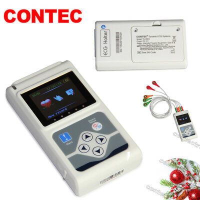 Promotion 24 hours 3 Channel ECG ECG/EKG Holter Monitor System,CONTEC,CE TLC9803
