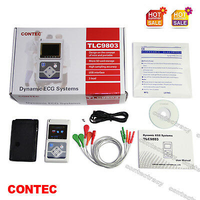 CONTEC TLC9803 Dynamic ECG System,3 Channel 24 Hours Holter ECG 24Hs Recorder,CE