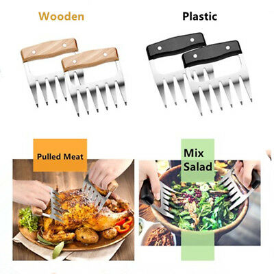Stainless Steel Pulled Beef Pork Meat Claws Shredder Forks Cook BBQ Accessories