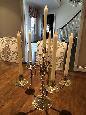 Antiques Candlesticks Just Triple Arm Candlestick Solid Oak Candlestick Taper Candle Oak Candelabra Sales Of Quality Assurance