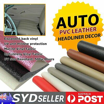 Marine Vinyl Fabric Upholstery Decor Auto Home Faux Leather Settee Seat Recover