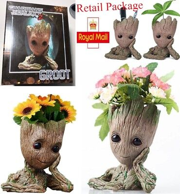 Toy Gift Guardians of the Galaxy Groot Resin Model Figure Plant Pot Flowerpot UK