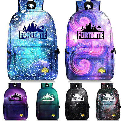 Kids Fortnite Battle Zip Rucksack Backpack Outdoor Travel Bag Fortnight Satchel