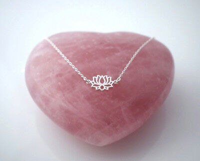 925 sterling silver floating LOTUS FLOWER necklace