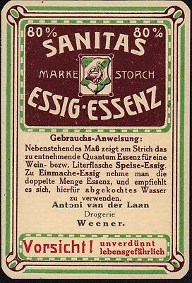 Sanitas Essig Essenz Etikett - Vinegar essence label - étiquette - ca.1920 #2771