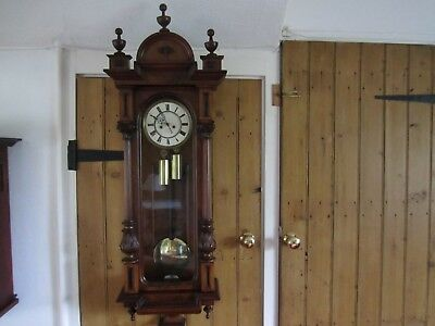 Antique Vienna Wall Clock - 1870's - In Very Good Working Order