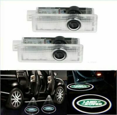 2x CREE LED Light Door for Land Rover Projector Puddle Shadow Laser Light Logo