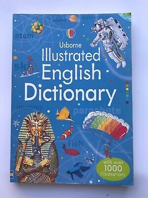 Usborne Illustrated English Dictionary With Over 1000 Illustrations Ages 9+ New