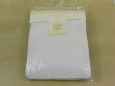 Baby Jersey Fitted Sheets for Travel Cot - 90 x 85 cm White - 2 pack