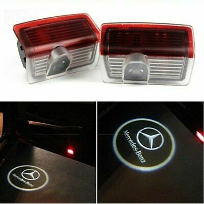 2x CREE LED Door for Mercedes Benz Courtesy Puddle Shadow Laser Light Lamp Logo