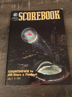 Toronto Blue Jays Official Game Scorebook 1991 All-Star Game Preview Cover