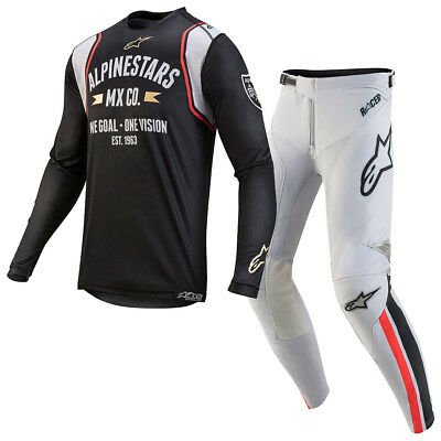 Alpinestars 2019 Racer Tech LE Battle Born MX Jersey/Pant Bundle - Black/Silver
