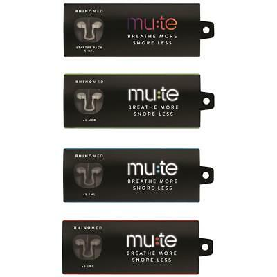 Rhinomed Mute Snoring Anti Snore Nose Device Small Medium Large or Trial 3 Pack