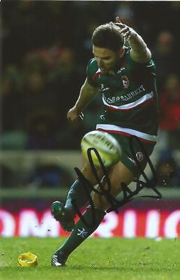 LEICESTER TIGERS RUGBY UNION: JOE FORD SIGNED 6x4 ACTION PHOTO+COA