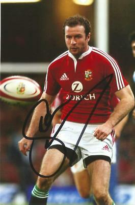 BRITISH LIONS & IRELAND RUGBY: GEORDAN MURPHY SIGNED 6x4 ACTION PHOTO+COA
