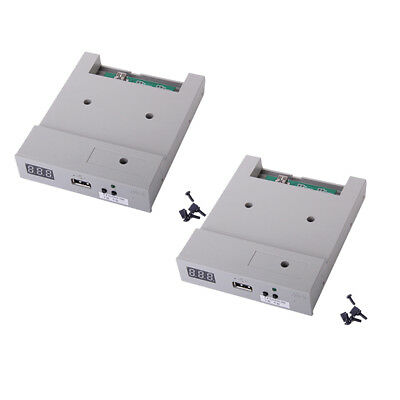 2pcs 3.5'' USB Floppy Drive 1.44MB Capacity with Screws Jumpers Caps