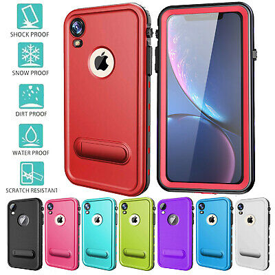 For iPhone XR Case Waterproof Shock XS MAX Rugged with Built-in Screen protector