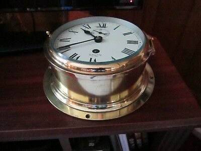 Smiths Astral Ships Bulkhead Brass Clock.