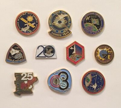 LOT of 10 NASA LAPEL PINS Space Shuttle STS Missions Skylab Apollo Program +++