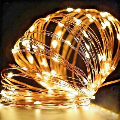 Led Battery Micro Rice Copper Wire Fairy Lights String Decoration Party