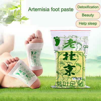 50 Pcs Wormwood Foot Patch Detox Relieve Stress Good Sleeping Relax Patches