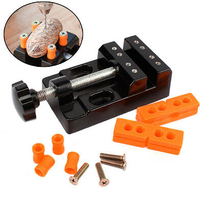 Universal Mini Bench Vise Clamp Aluminum Alloy Walnut Nut Clip Jewelry Pincers T