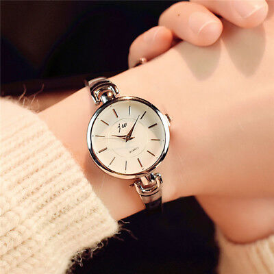 Women Lady Wrist Quartz Watch Alloy Strap Round Dial Luxury Watch For Business