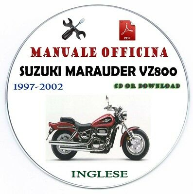 Manuale Officina Suzuki Marauder VZ 800 1997-2002 Workshop Manual Service