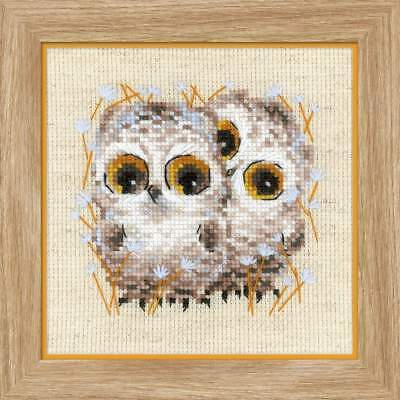 "Counted Cross Stitch Kit RIOLIS 1755 - ""Little Owls"""