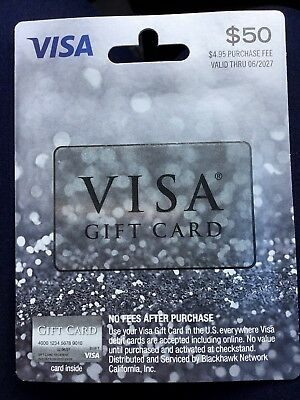 $50 Non Reloadable Visa Card! Already Activated! Free Priority Shipping!
