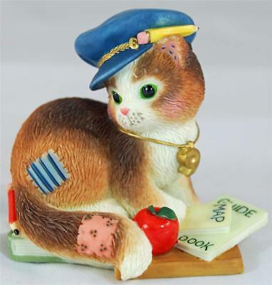 MIB Enesco Calico Kittens THANKS FOR GUIDING US TOWARDS OUR GOALS Cat Maps Books