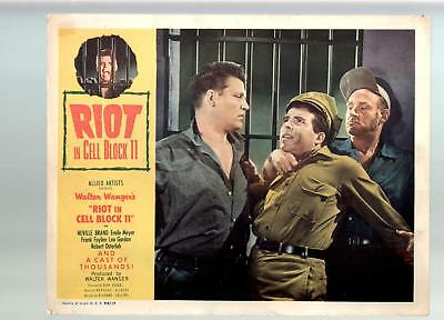 Riot In Cell Block 11-Neville Brand, Emile-Meyer-11x14-Color-Lobby Card