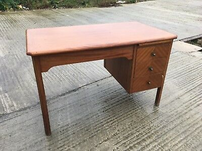 Stunning 1970's Teachers Desk With Three Drawers