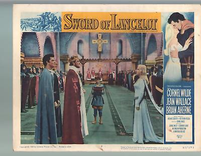 Sword Of Lancelot-Cornel Wilde-Jean Wallace-Brian Aherne-11x14-Color-Lobby Card