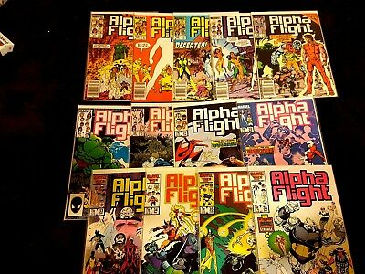 (13) Issues Alpha Flight 24-36 (1985-1986) Copper Age Marvel Bagged & Boarded