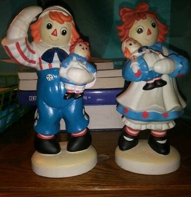 Raggedy Ann Raggedy Andy Vintage Figurine Exclusively from Flambro