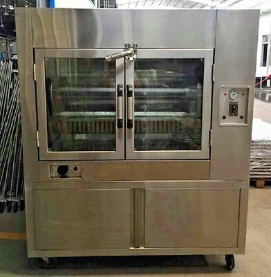 Pantin Commercial Rotisserie Oven Duck Chicken Kebab Machine with Cabinet