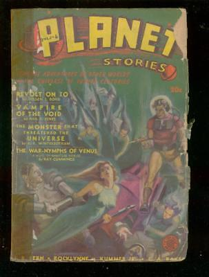PLANET STORIES PULP-SPG 1948-Fiction House-Ray Bradbury G/vg